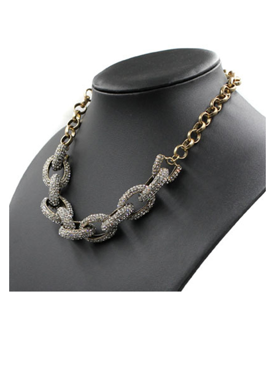 pave stone encrusted chain links
