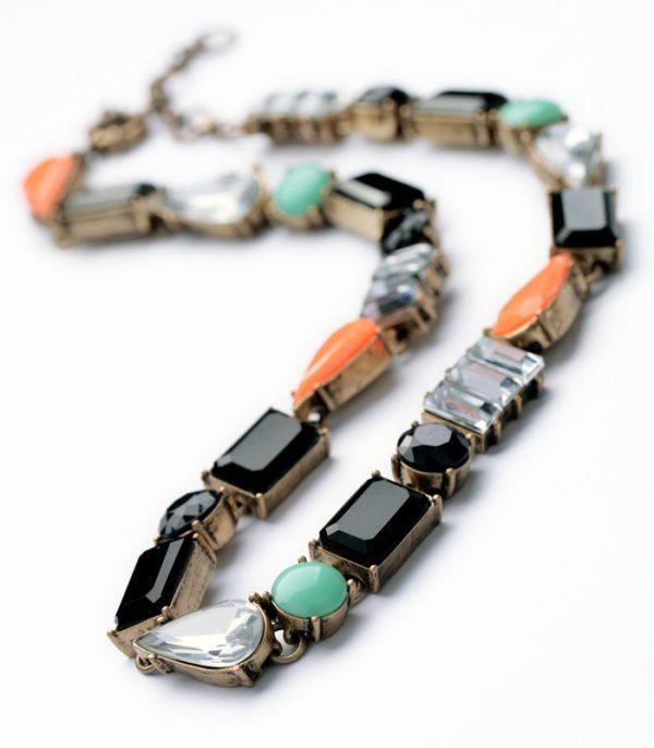 Color Stone Bib Necklace 2