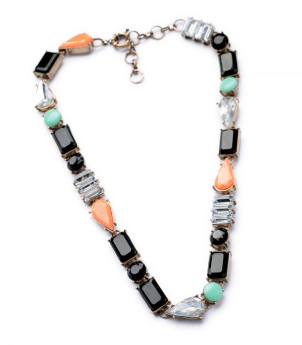 Color Stone Bib Necklace 3