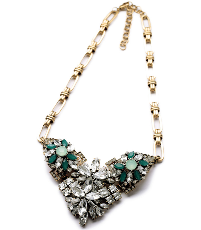 Emerald Stone Necklace - Hello Supply Modern Jewelry - photo#5