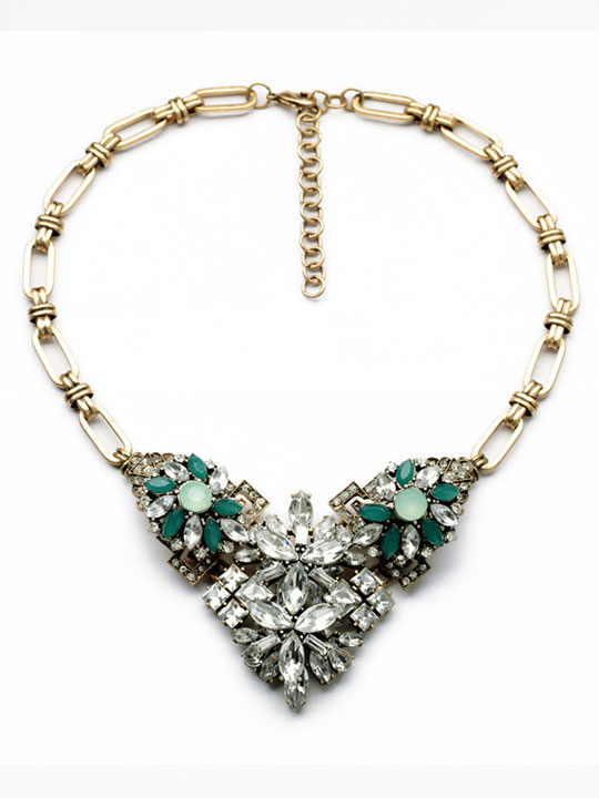 Emerald Stone Necklace - Hello Supply Modern Jewelry - photo#2