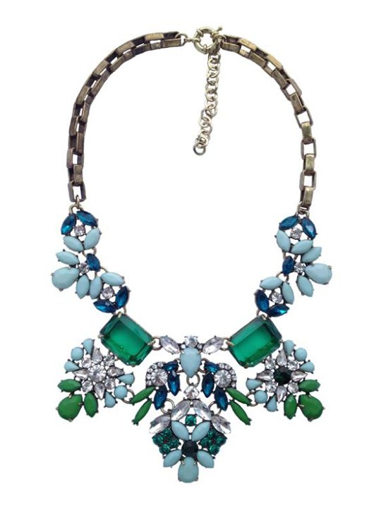 Frosted Mint Statement Necklace