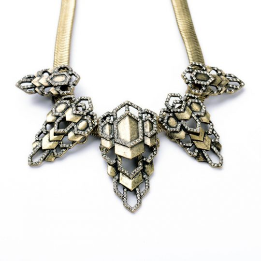 Mixed Metals Statement Necklace 2