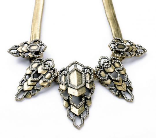 Mixed Metals Statement Necklace 6