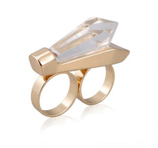 Natural Stone Gold Ring