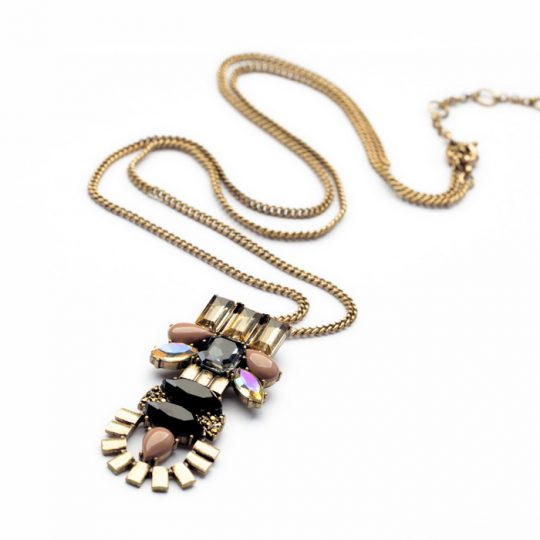 Stone Crystal Pendant Necklace 3