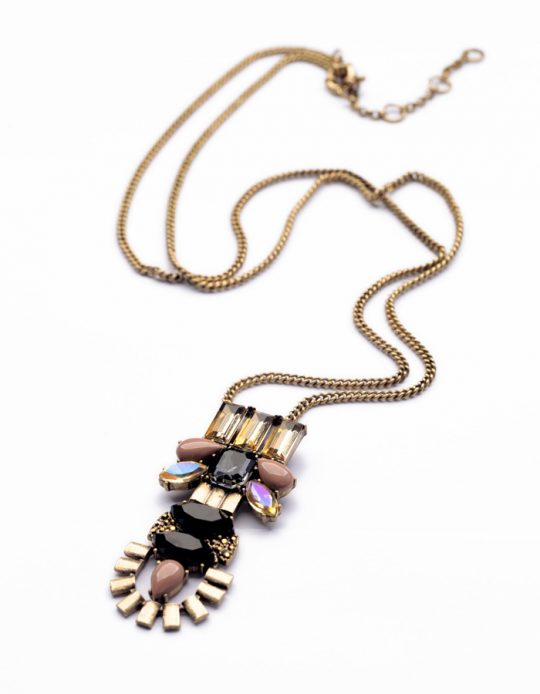 Stone Crystal Pendant Necklace 4