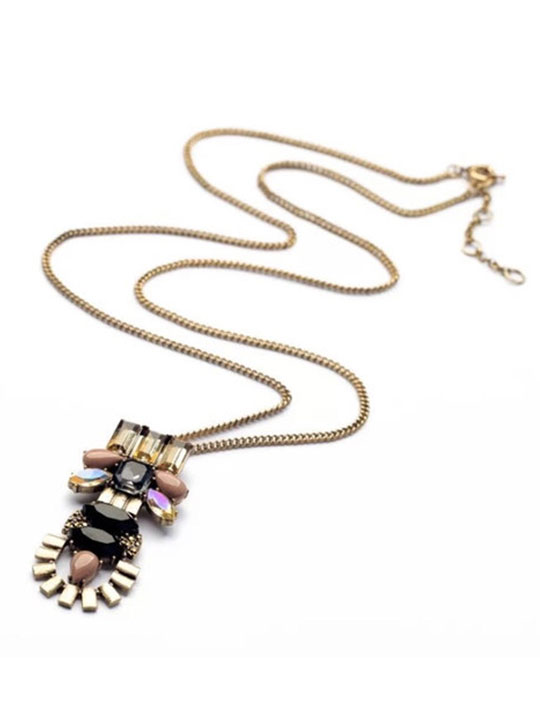 Stone Crystal Pendant Necklace