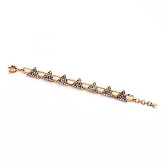 Triangle Pave Gold Bracelet 2