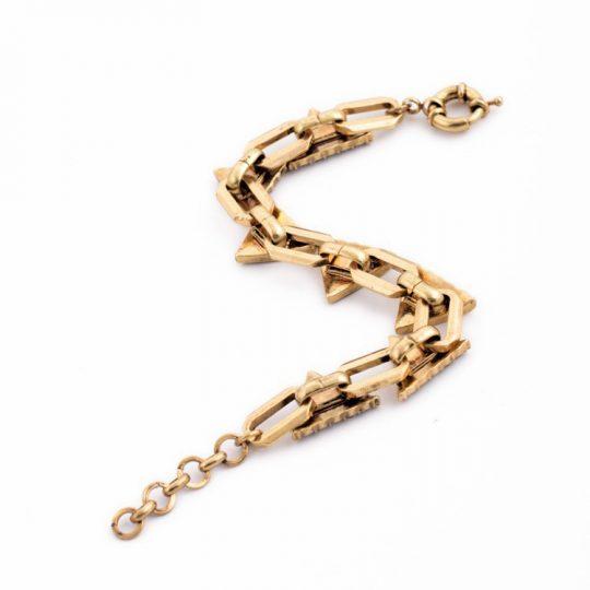 Triangle Pave Gold Bracelet 3