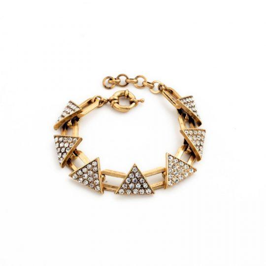 Triangle Pave Gold Bracelet