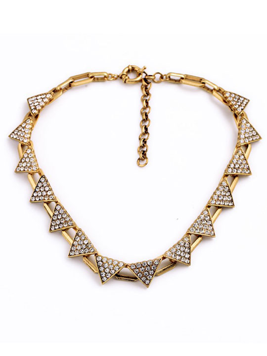 Triangle-Pave-Gold-Necklace
