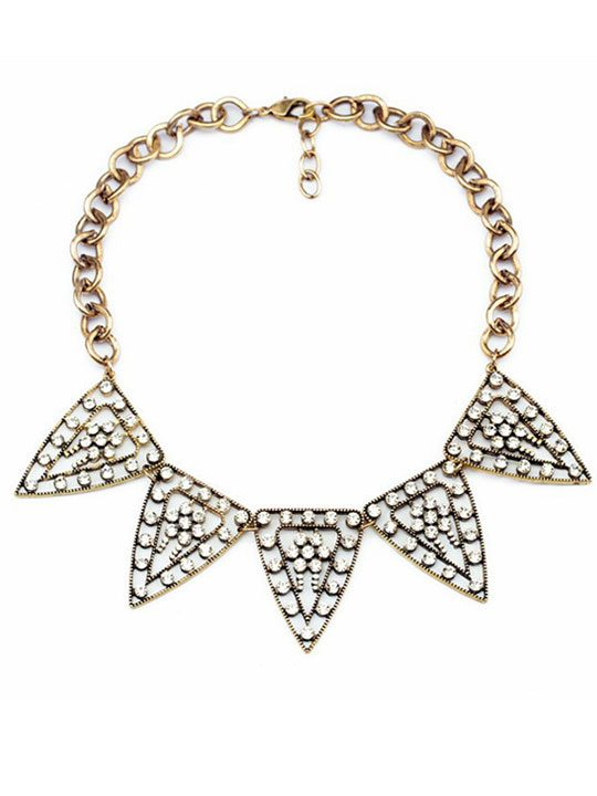 Tribal Crystal Statement Necklace