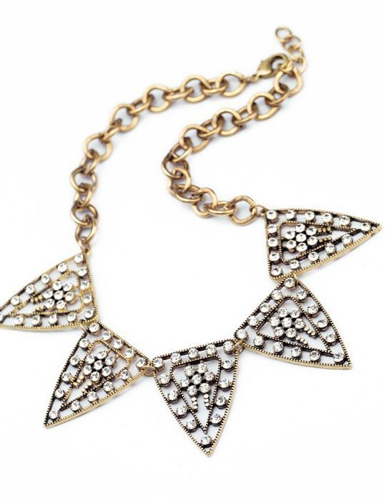 Tribal Crystal Statment Necklace 2