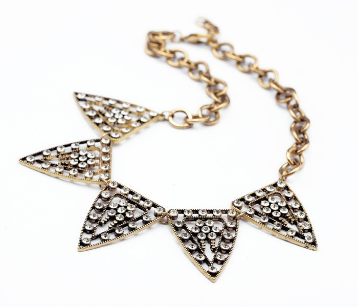 Tribal Crystal Statment Necklace 3