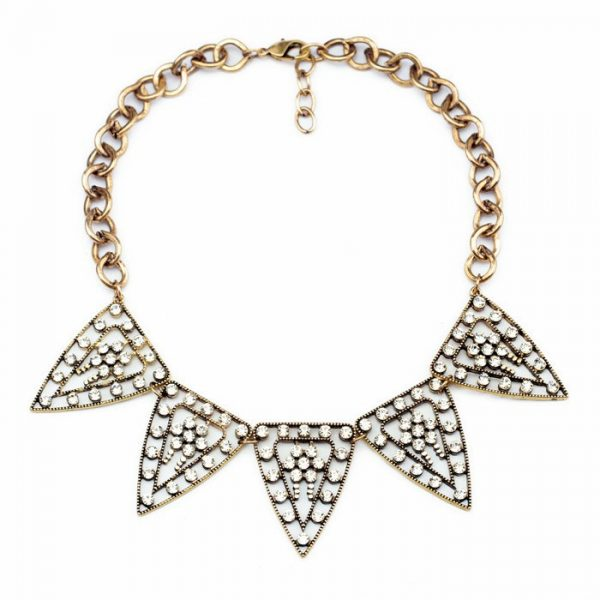 Tribal Crystal Statment Necklace 4