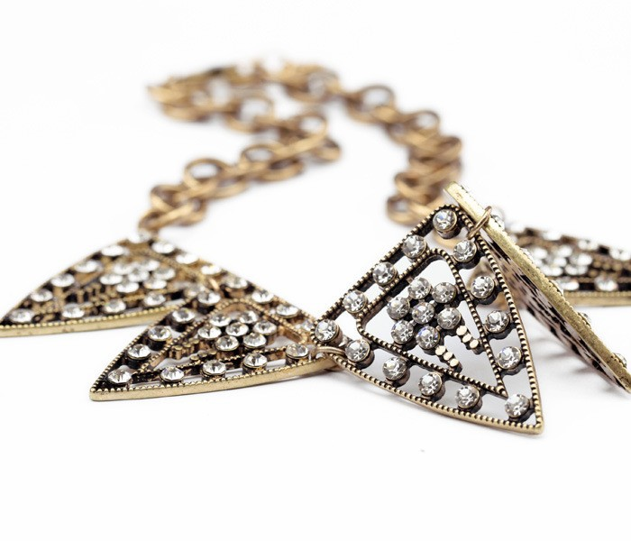 Tribal Crystal Statment Necklace