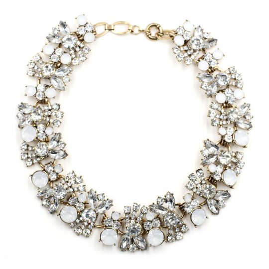 Allure Crystal Bib Necklace