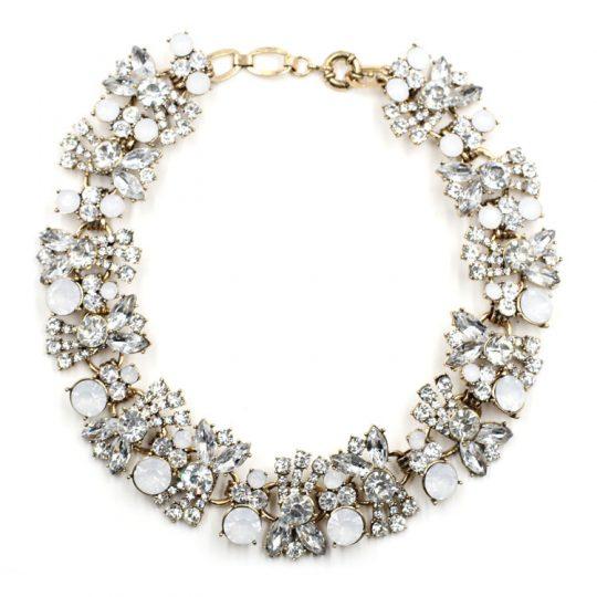 Allure Crystal Bib Necklace