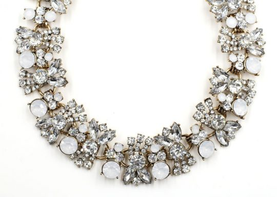 Allure Crystal Bib Necklace 4