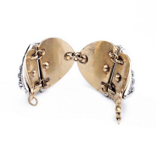 Geometric Gold Crystal Statement Bracelet 6