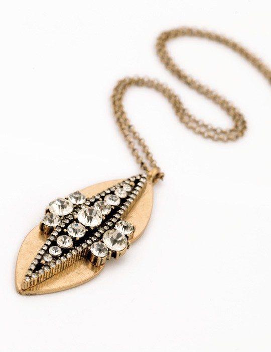 Golf Leaf Pendant Necklace 7