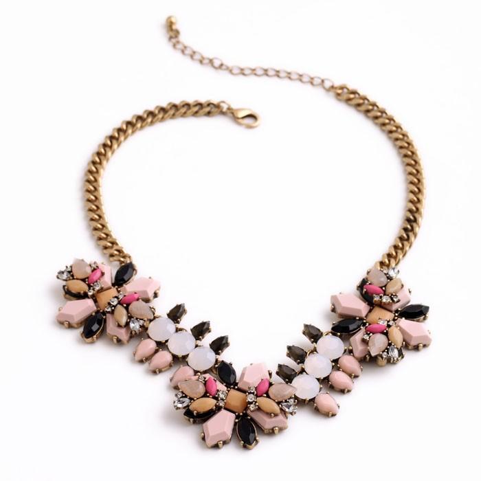 Pink Neutral Pendant Necklace