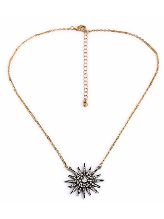 Sunburst necklace hello supply modern jewelry sunburst necklace aloadofball Images
