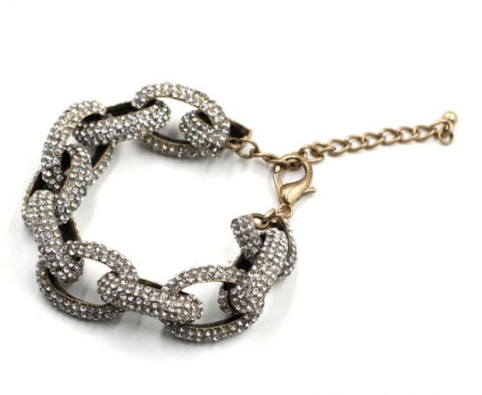 Chain Link Pave Stone Necklace 3