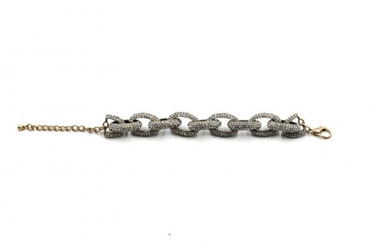 Chain Link Pave Stone Necklace 4