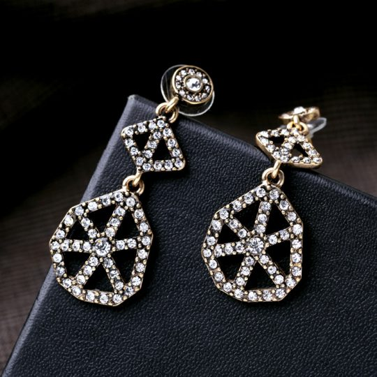 Cirque Crystal Statement Earrings 2