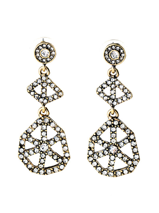 Cirque Crystal Statement Earrings