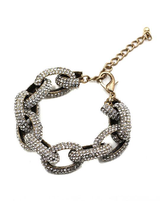 Pave-Chain-Link-Bracelet