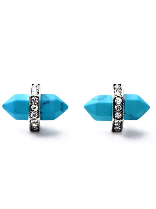 Turquoise Natural Stone Stud Earrings 2
