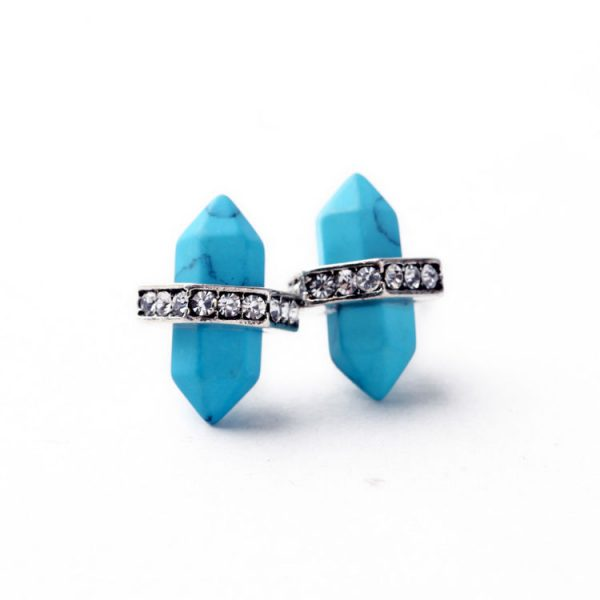 Turquoise Natural Stone Stud Earrings 3