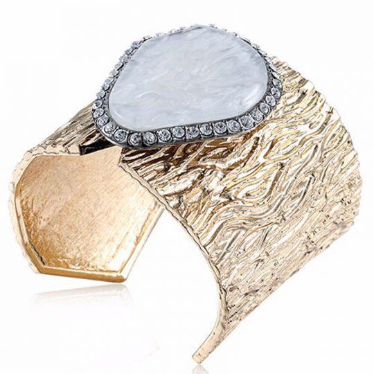 Aqueous Stone Cuff Bracelet