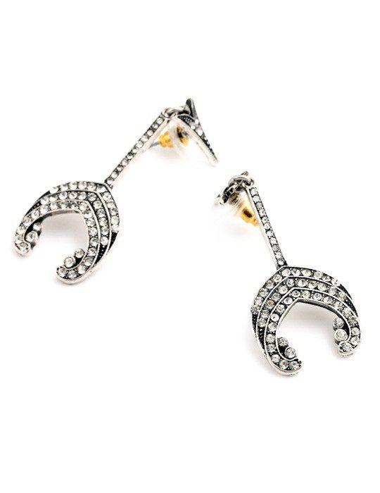 Arrow Crystal Statement Earrings 1