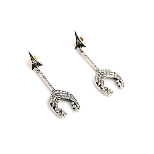 Arrow Crystal Statement Earrings 3