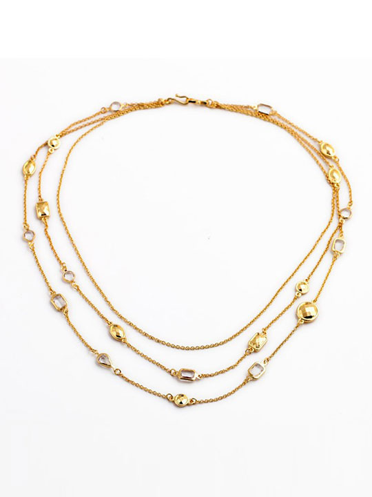 Gold-Stone-3-Tier-Necklace