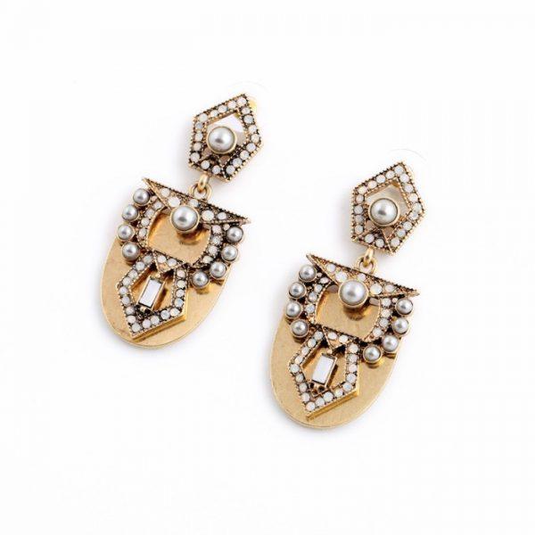 Pearl Arc Statement Earrings 2