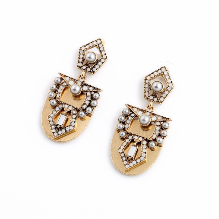 Pearl Arc Statement Earrings 2