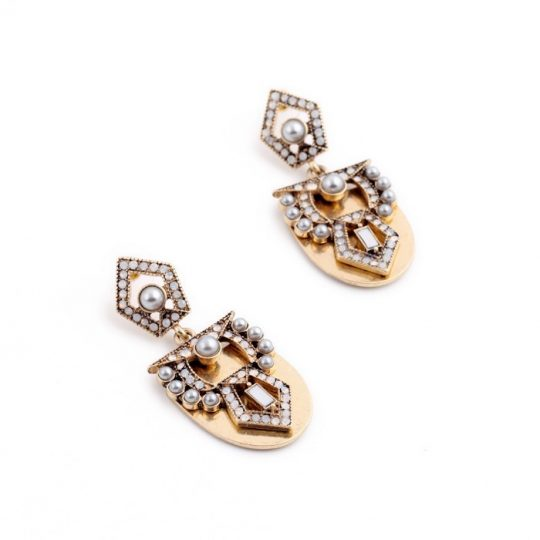 Pearl Arc Statement Earrings 3