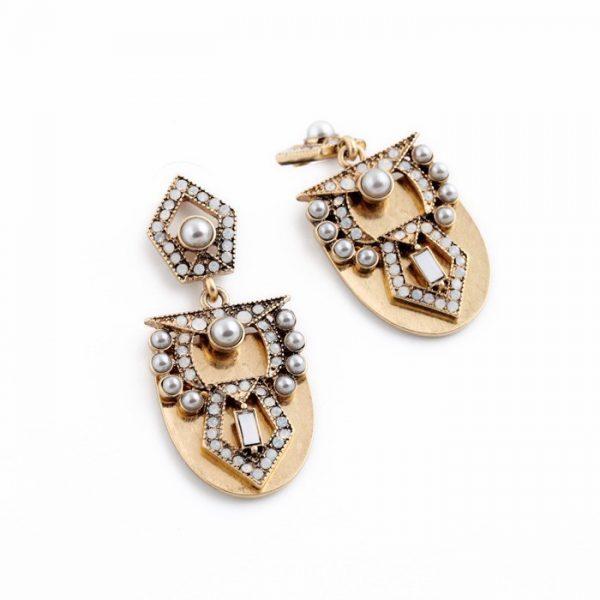 Pearl Arc Statement Earrings 4