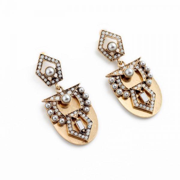 Pearl Arc Statement Earrings 5