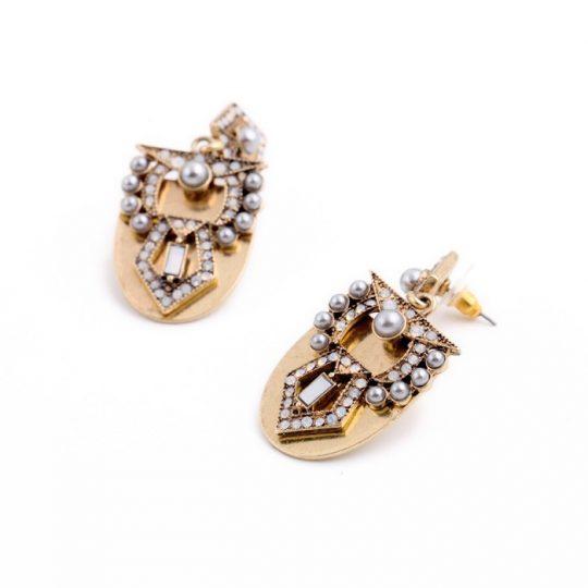 Pearl Arc Statement Earrings