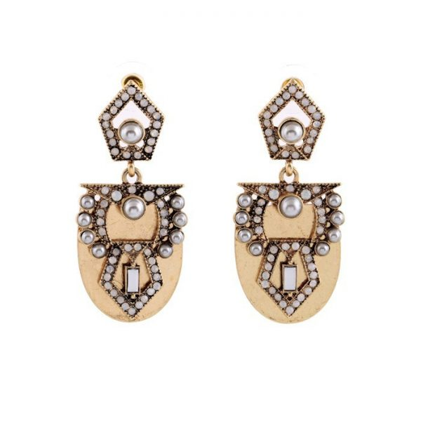 Pearl Arc Statement Earrings 6