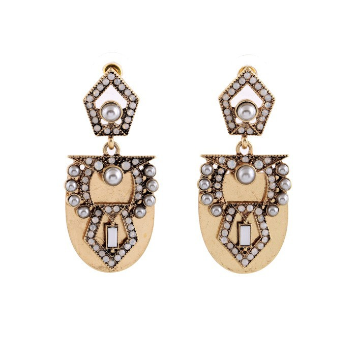 Pearl Arc Statement Earrings 6