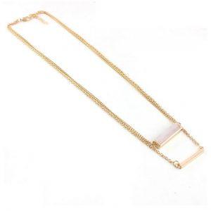 rose quartz layer necklace