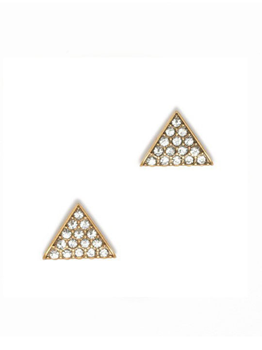 Triangle Crystal Stone Stud Earrings