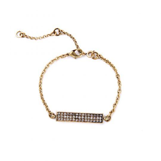 Gold Bar Pave Bracelet 2